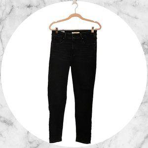 Levi's 721 Hi-rise Skinny Ankle Jeans Fringe Sz 28